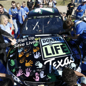 DLT Honorees ride with NASCAR's Joey Gase