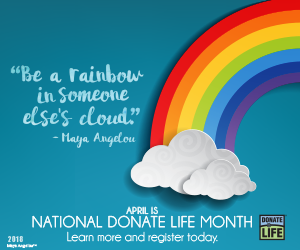 (English) April is National Donate Life Month